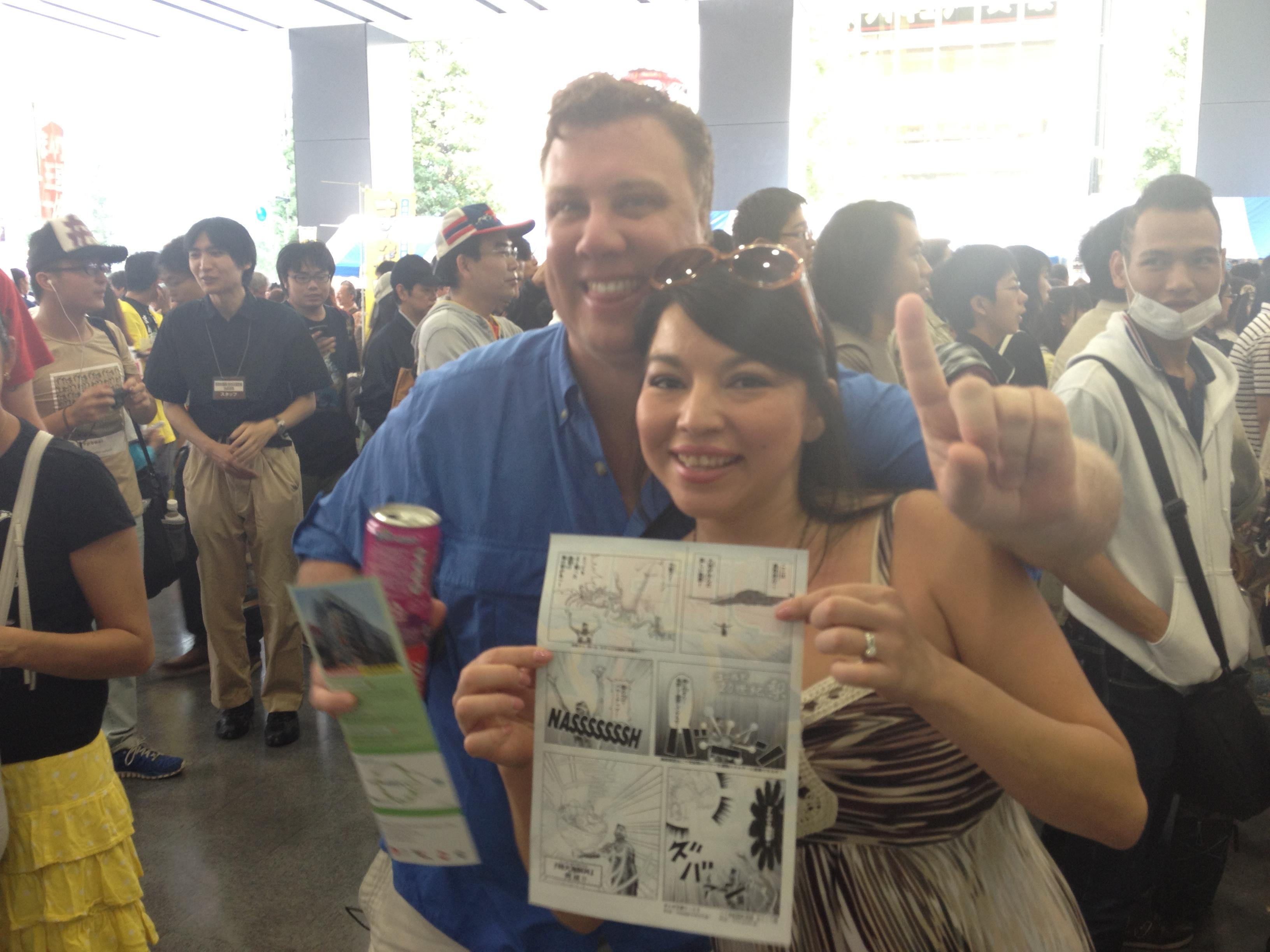 アメリカからのお客様、アキバは海外からのお客様が多く、良い反応。