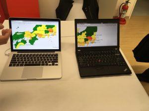 位置情報に関連する投稿を可視化するつぶやきヒートマップ