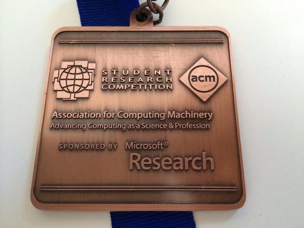 ACM SRC Bronze Prize